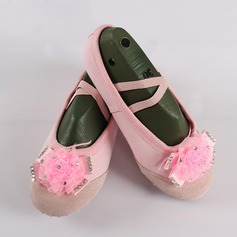 Women's Canvas Flats Ballet With Flower Dance Shoes