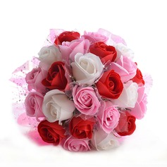 Romantic Round Foam Bridal Bouquets/Bridesmaid Bouquets