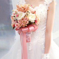 Delicate Hand-tied Artificial Silk Bridal Bouquets -