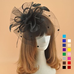 Damene ' Elegant Cambric med Fjær Fascinators/Kentucky Derby Hatter