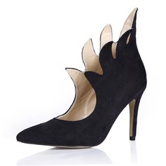 Women's Suede Stiletto Heel Pumps Closed Toe shoes