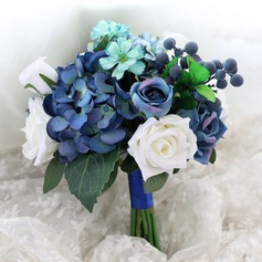 Blooming Round Silk/Cloth Bridesmaid Bouquets -