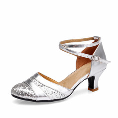 Women's Leatherette Sandals Ballroom With Hollow-out Dance Shoes