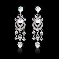 Luxurious Alloy/Czech Stones Ladies' Earrings