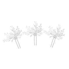 Ladies Gorgeous Crystal Hairpins With Crystal (Set of 3)