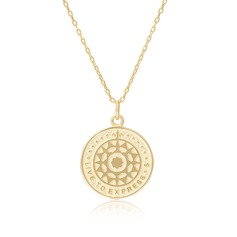 18k Gold Plated Silver Circle Pendant Necklace Discs & Circle - Birthday Gifts Mother's Day Gifts