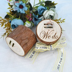 """We Do"" Wood Ring Holder"