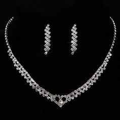 Elegant Rhinestones/Copper With Rhinestone Ladies' Jewelry Sets