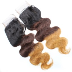 "5A 4""*4"" Body Wavy Mid-Length Long Human Hair Closure (Sold in a single piece) 100g"