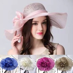 Ladies' Beautiful Cambric With Feather Floppy Hat (196118100)