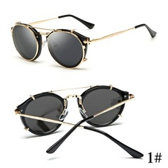 UV400/HD Retro/Vintage Round Sun Glasses (201083331)