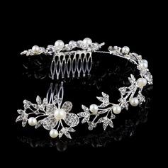 Magnifique Strass/Alliage/De faux pearl Des peignes et barrettes avec Strass/Perle Vénitienne (Vendu dans une seule pièce)