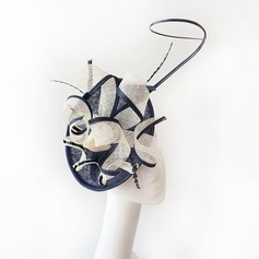 Ladies' Glamourous Cambric With Feather Fascinators