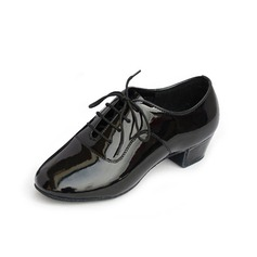 Kids' Leatherette Heels Practice With Lace-up Dance Shoes