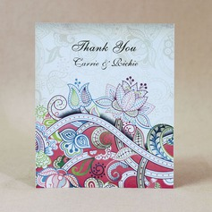 Personalized Flower Design Hard Card Paper Thank You Cards