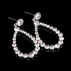 Fashionable Alloy/Silver Plated With Crystal Ladies' Earrings