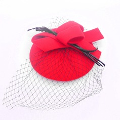 Ladies' Lovely Wool With Tulle Beret Hats/Tea Party Hats