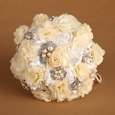 Pretty Round Satin/Silk Bridal Bouquets