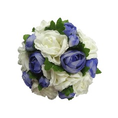 Romantic Hand-tied/Round Satin Bridesmaid Bouquets