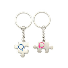 Personalized Puzzle Pieces Zinc Alloy Keychains