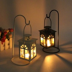 Lovely Solid Color Iron Glass Candle Holder (Sold in a single piece) (203175758)