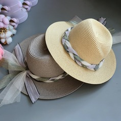 Ladies' Special/Glamourous/Elegant/Simple/Eye-catching/Fancy Raffia Straw With Imitation Butterfly Straw Hat