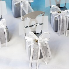 Chair Design Cubic Card Paper Favor Boxes With Ribbons (Set of 12)