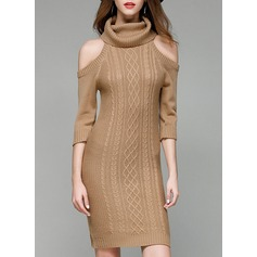 Knitting Knee Length Dress (199140448)