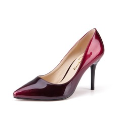 Women's Patent Leather Stiletto Heel Pumps shoes (085102223)