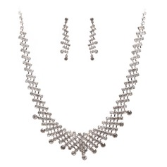 Elegant Alloy With Rhinestone Ladies' Jewelry Sets