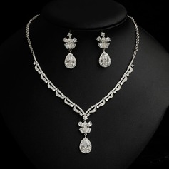 Elegant Rhinestones/Zircon Ladies' Jewelry Sets