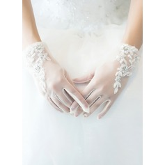 Tulle Wrist Length Bridal Gloves (014205754)