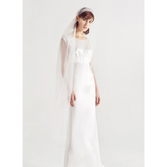 One-tier Cut Edge Waltz Bridal Veils