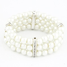 Unique Alloy With Imitation Pearls Ladies' Bracelets