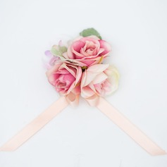 Gorgeous Satin/Fabric Wrist Corsage (Sold in a single piece) -