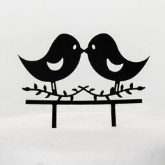 Lovely Birds Acrylic Wedding Cake Topper