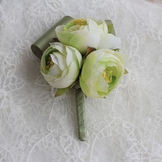 Romantic Satin/Silk Boutonniere -