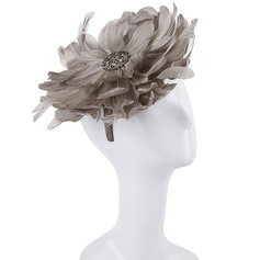 Ladies' Pretty/Charming/Luxurious Feather With Flower Fascinators