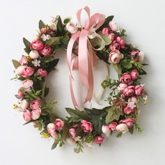 Rose Artificial Flowers Mirror Flower Home Wall Garland Wreath Wedding Flower Christmas Decoration Wreaths (131123148)