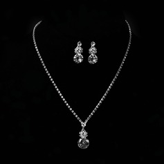 Flower Shaped Alloy With Rhinestone Zircon Women's Jewelry Sets (137144871)