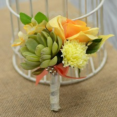 Gorgeous Free-Form Artificial Silk Boutonniere/Men's Accessories