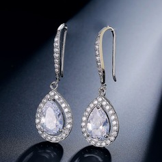Shining Zircon Ladies' Earrings (011117346)