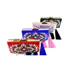 Elegant Silk/Czech Stones/Beading Clutches/Bridal Purse