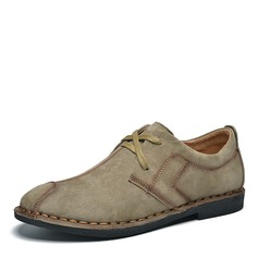 Men's Suede Lace-up Casual Men's Loafers