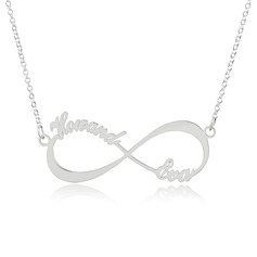 Custom Sterling Silver Infinity Two Name Necklace Infinity Name Necklace (288211245)