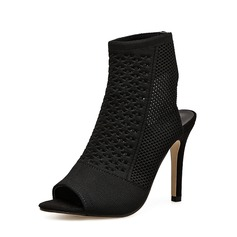Women's Fabric Stiletto Heel Pumps Boots Peep Toe Slingbacks Ankle Boots With Others shoes