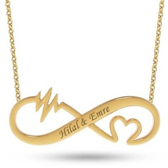 Custom 18k Gold Plated Infinity Two Name Necklace Engraved Necklace With Heart - Birthday Gifts Mother's Day Gifts