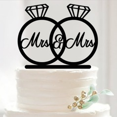 Two Rings Acrylic Cake Topper