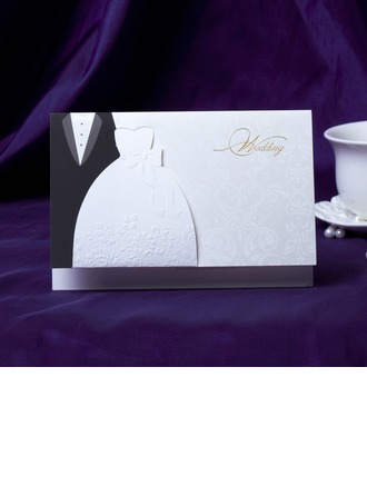 Bride & Groom Style Top Falten Invitation Cards