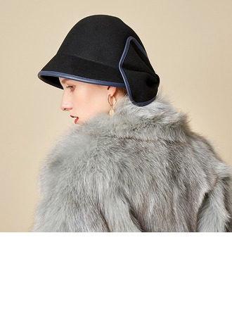 Ladies' Beautiful/Simple/Pretty Wool With Bowknot Bowler/Cloche Hats